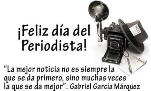 Feliz Día del Periodista, les desea Lucho Noticias