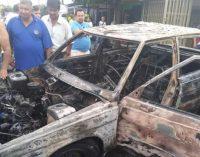 Automóvil se incendió en el sur de Neiva