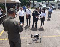 Presentado dron para el reforzamiento de la seguridad en Neiva