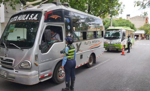 Verificados protocolos de bioseguridad en el transporte público en Neiva