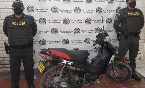 Recuperada moto hurtada en Palermo