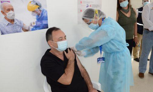 Primer reporte de vacunación en el Huila