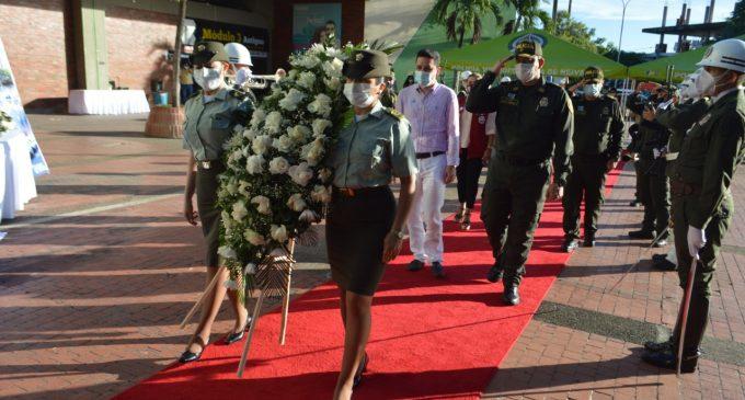 Homenaje de la Policía a las víctimas del conflicto armado