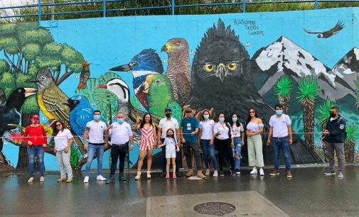 Con mural, Neiva conmemoró el Global Big Day