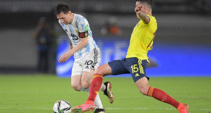 Apretado empate de Colombia ante Argentina