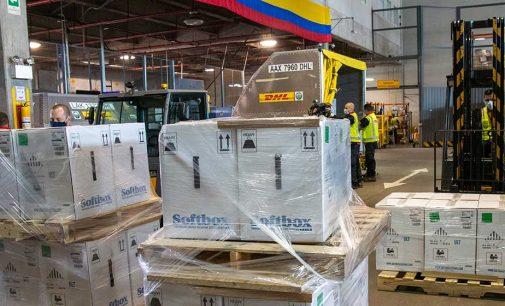 Continúa la llegada de vacunas contra el COVID 19 a Colombia